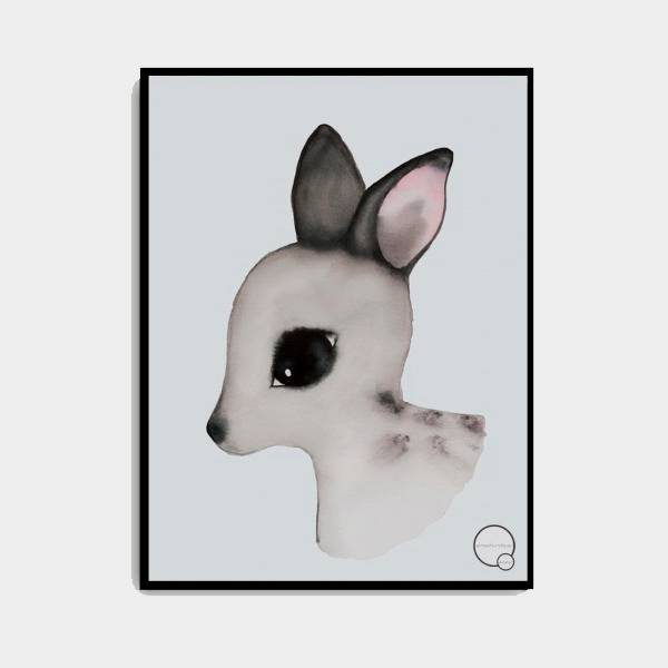 Bilde av Poster Deer 30x40cm